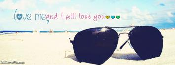 Love Me Facebook Glasses Covers Photos