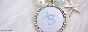 Necklace Alphabet B Facebook Cover