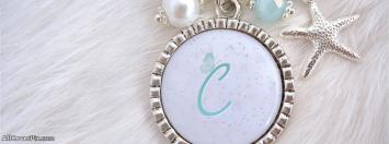 Necklace Alphabet C Facebook Cover