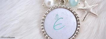Necklace Alphabet E Facebook Cover