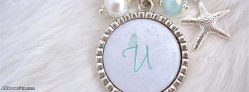 Necklace Alphabet U Facebook Cover