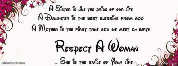 Respect A Women Facebook Cover Photos