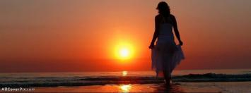 Sunset Alone Girl Facebook Timeline Cover Photos