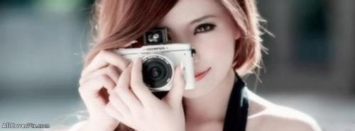Girls With Camera Cover Photos -  Facebook Covers