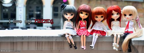 Friends Forever Dolls Cover Photos -  Facebook Covers