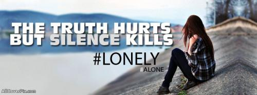 Alone Quotes And Sad Girls Cover Photos Fb -  Facebook Covers