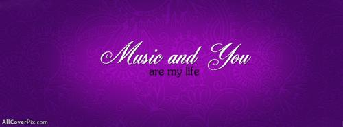 Music My Life Get Awesome Words Cover Photos Fb -  Facebook Covers