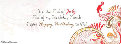 Birthday Months July 2 Dec Wishes Cover Photo -  Facebook Covers
