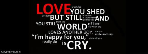 Amzing Quote About Love Facebook Cover Photo -  Facebook Covers