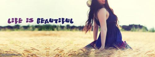 Beautiful Happy Girl Facebook Cover Photo -  Facebook Covers