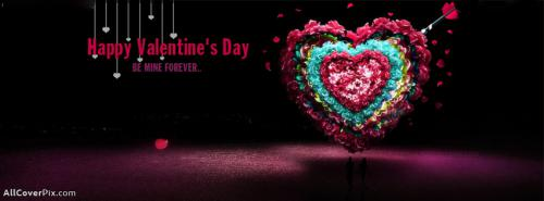 Beautiful Heart Happy Valentines Day Facebook Covers -  Facebook Covers