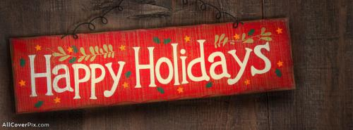 Best Happy Holidays Facebook Cover -  Facebook Covers