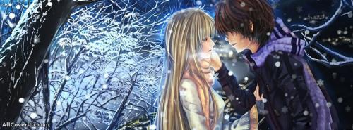 Couple Anime Facebook Cover Photo -  Facebook Covers