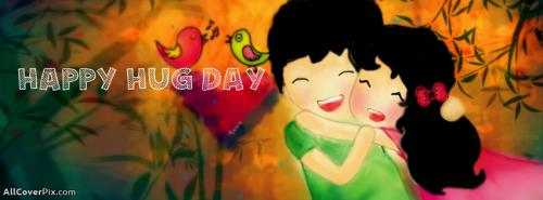 Cute Couple Happy Hug Day FB Covers -  Facebook Covers
