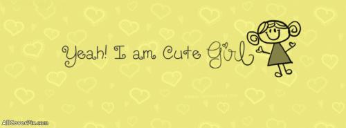 Cute Girl Facebook Cover -  Facebook Covers