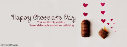 Cute Happy Chocolate Day Facebook Cover -  Facebook Covers