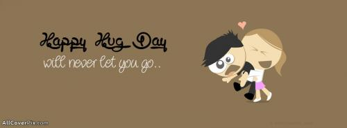 Cute Happy Hug Day Facebook Covers -  Facebook Covers