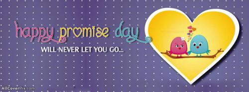 Cute Happy Promise Day FB Covers -  Facebook Covers