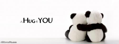Cute Panda Hug Cover Photos Facebook -  Facebook Covers