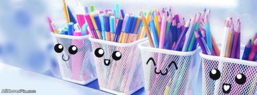 Cute Pencils Facebook Cover Photo -  Facebook Covers