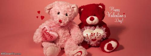 Cute Teddy Bears Of Valentine Day -  Facebook Covers