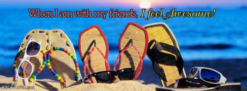 Feel Awesome With Friends Facebook Covers Photo -  Facebook Covers