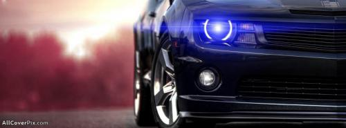 Front Light Sport Car Facebook Cover Photo -  Facebook Covers