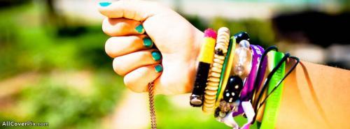 Girl Hand Bracelets Facebook Cover Photos -  Facebook Covers