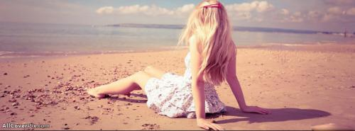 Girl On Beach Cover Photos For Facebook Timeline -  Facebook Covers