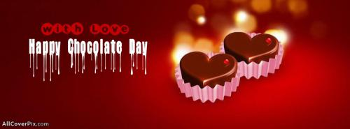 Happy Chocolate Day Facebook Covers -  Facebook Covers