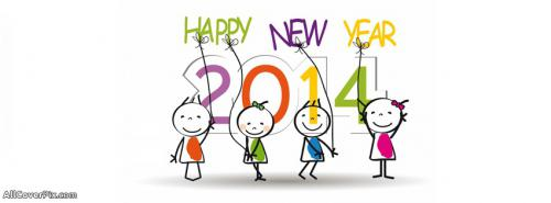 Happy New Year 2014 FB Covers -  Facebook Covers