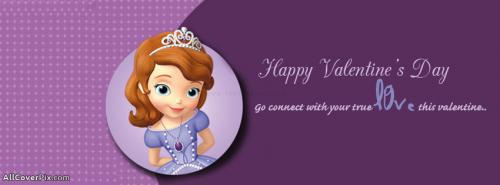 Happy Valentines Day Facebook Cover Little Princess -  Facebook Covers