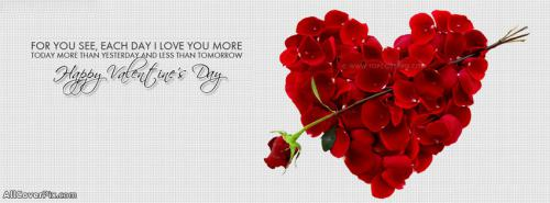 Happy Valentines Day Facebook Cover -  Facebook Covers
