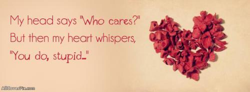 Heart Quote Facebook Cover Photos -  Facebook Covers