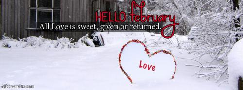 Hello February Covers for Facebook -  Facebook Covers