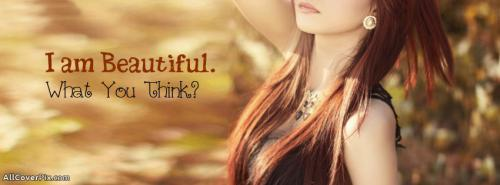 I am Beautiful Facebook Cover Photo For Girls -  Facebook Covers