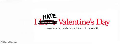 I Hate Valentines Day Facebook Covers -  Facebook Covers