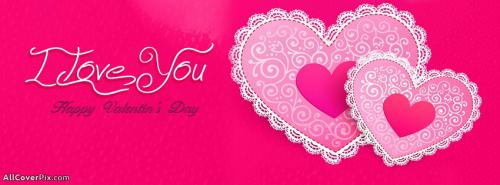 I Love You Happy Valentines Day Facebook Covers -  Facebook Covers