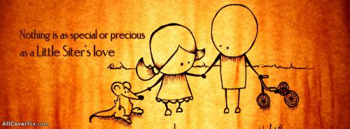 Little Sister Love Facebook Cover -  Facebook Covers