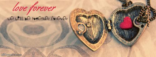 Love Forever Hearts Covers for Facebook -  Facebook Covers
