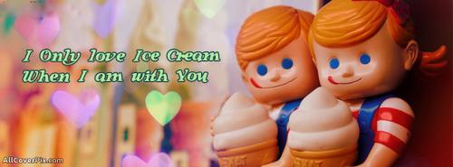 Love IceCream Cover Photo Facebook -  Facebook Covers