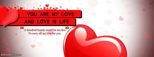 Love Is Life Fb Cover Photos -  Facebook Covers