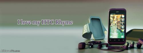 Love My HTC Rhyme Mobile Facebook Covers -  Facebook Covers