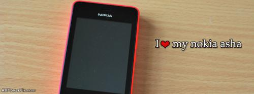 Love My Nokia Asha Mobile Facebook Covers -  Facebook Covers