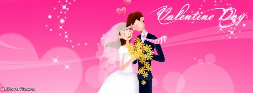 Lovely Couple Happy Valentines Day FB Covers -  Facebook Covers