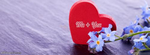Me Plus You Facebook Heart Cover Photo -  Facebook Covers