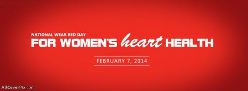 National Wear Red Day 2014 Facebook Covers -  Facebook Covers