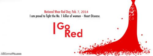 National Wear Red Day Covers for Facebook -  Facebook Covers