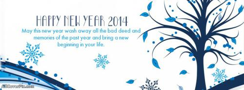 New Year 2014 Wishes FB Cover Photos -  Facebook Covers
