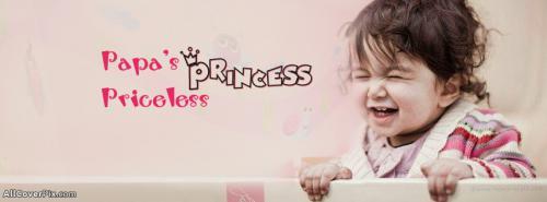 Papas Princess Cute Facebook  Cover Photo -  Facebook Covers
